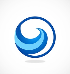 Water symbol abstract wave logo vector