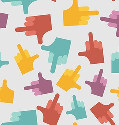Fuck seamless pattern background hands vector