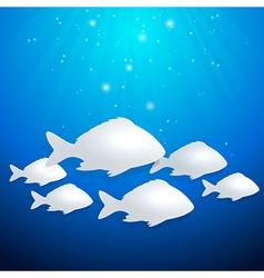 Blue marine background vector