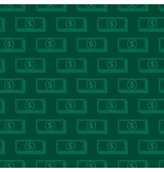 Seamless background with dollar signs money vector