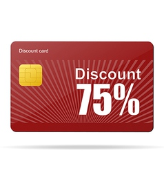 Discount card sale percent vector