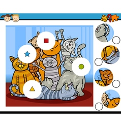 Match pieces education game vector