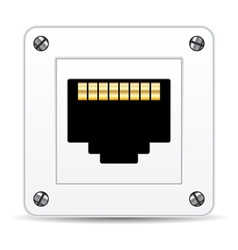 Network plug vector