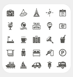Travel and hotel icons set vector