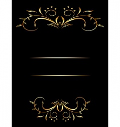 Decorative card vector