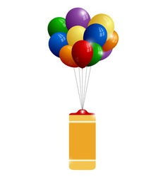 Colorful balloons with banner vector