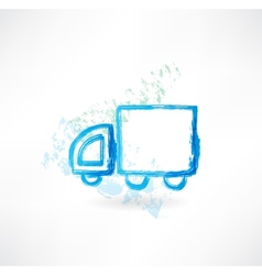 Trucking grunge icon vector