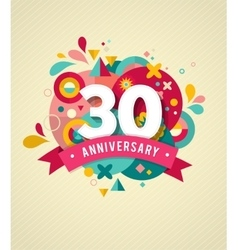 Anniversary - abstract background vector