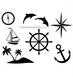 Sea signs vector