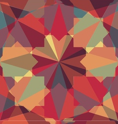 Abstract retro geometric pattern vector