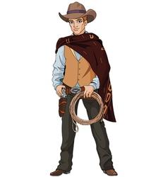 Young cowboy vector
