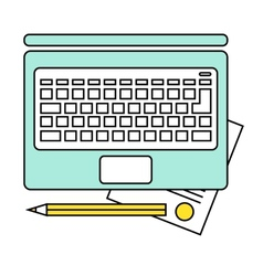 Online education concept e-learning studying vector