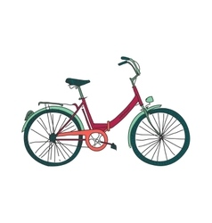 Colored doodle bicycle vector