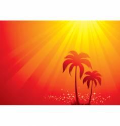 Tropical scene vector