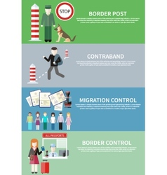 Contraband border control post and migration vector