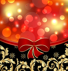 Christmas floral ornamental decoration for design vector