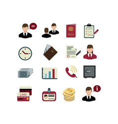 Set of bank icons vector