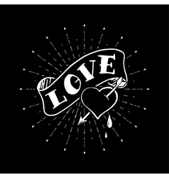 Hand drawn love poster on the blackboard vector