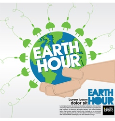Earth hour conceptual eps10 vector