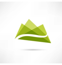 Landscape in the mountains icon vector