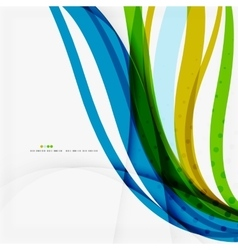 Green blue wave lines vector