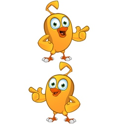 Cartoon chick pointing vector
