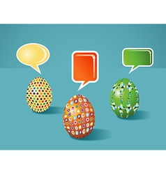 Social media painted easter communication vector