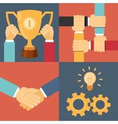 Handshake partnership victory vector