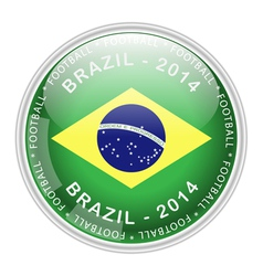 Brazil button vector