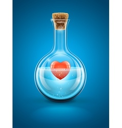 Glass flask bottle vector