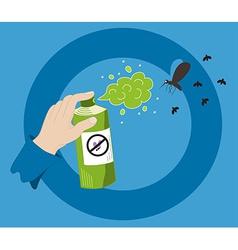 Mosquito spray vector