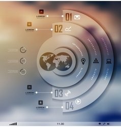 Transparent business infographics shadows options vector
