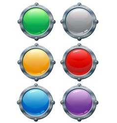 Templates for buttons vector