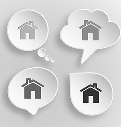 Home white flat buttons on gray background vector