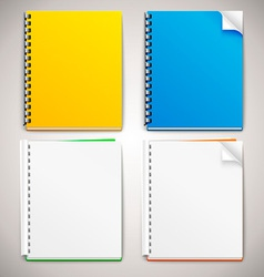 Spiral ring notebooks vector