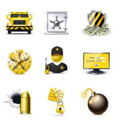 Bank security icons | bella vector