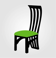 Graphic of designer dining chair vector