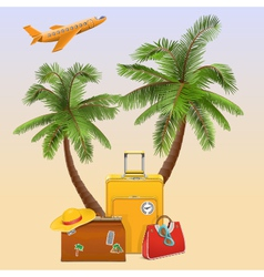 Travel concept with palm vector