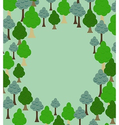 Forest pattern background of trees template with vector