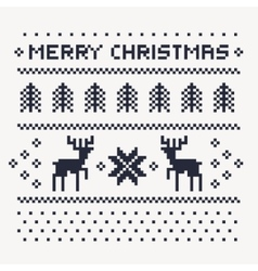 Christmas winter pattern print for jersey vector