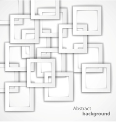 Abstract 3d square geometrical background vector