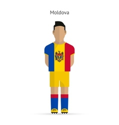 Moldova football player soccer uniform vector