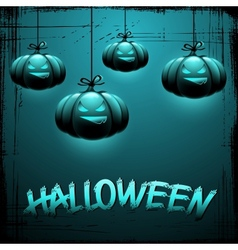 Eps 10 halloween background with moon and pumpkins vector