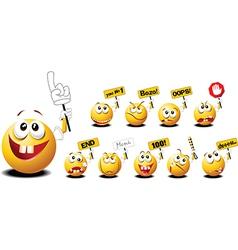 Funny emoticons vector