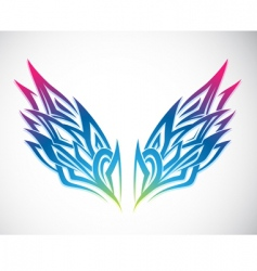 Wing ornament vector
