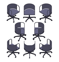Isometric office spinning chair vector