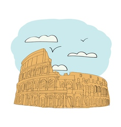 Great colosseum rome italy vector