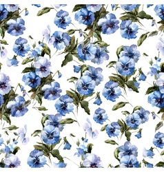Blue flowers 3 vector