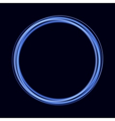 Abstract background with blue shiny rings vector