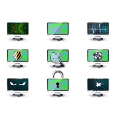 Computer security concepts vector